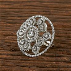 413435 Cz Classic Ring With Rhodium Plating