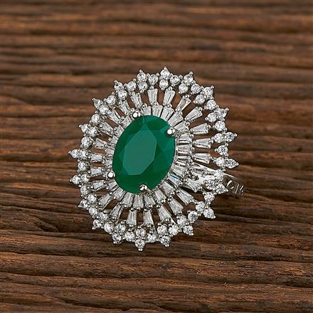 413516 Cz Classic Ring With Rhodium Plating