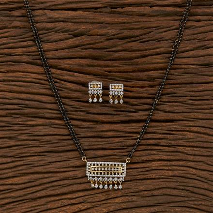 413551 Cz Classic Mangalsutra With 2 Tone Plating