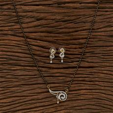 413554 Cz Classic Mangalsutra With 2 Tone Plating