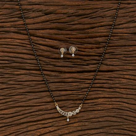 413558 Cz Classic Mangalsutra With 2 Tone Plating