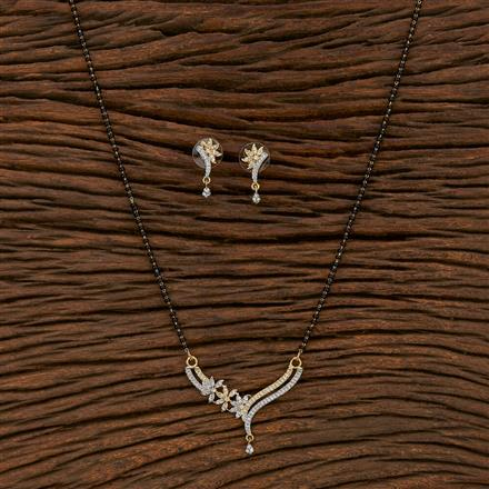 413559 Cz Classic Mangalsutra With 2 Tone Plating