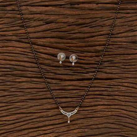 413560 Cz Classic Mangalsutra With 2 Tone Plating