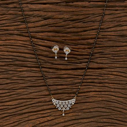 413561 Cz Classic Mangalsutra With 2 Tone Plating