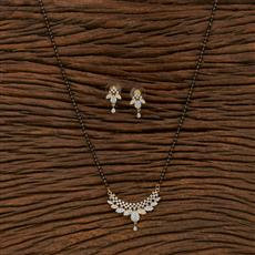 413563 Cz Classic Mangalsutra With 2 Tone Plating