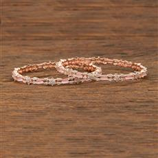 413633 Cz Classic Bangles With Gold Plating