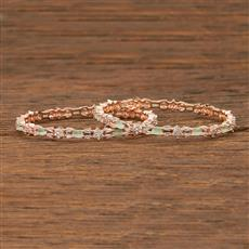 413634 Cz Classic Bangles With Gold Plating