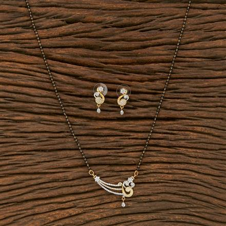413637 Cz Classic Mangalsutra With Gold Plating