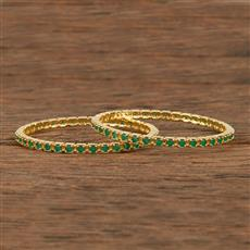 413948 Cz Classic Bangles With Gold Plating