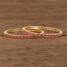 413949 Cz Classic Bangles With Gold Plating