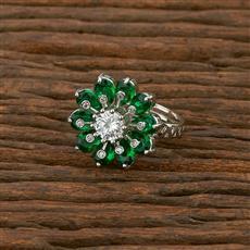 414003 Cz Classic Ring With Rhodium Plating