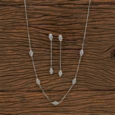 414010 Cz Delicate Necklace With Rhodium Plating