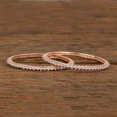414217 Cz Classic Bangles With Rose Gold Plating
