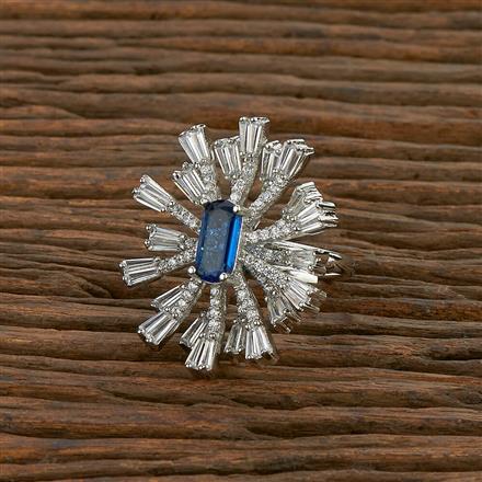 414226 Cz Classic Ring With Rhodium Plating