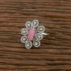 414247 Cz Classic Ring With Rhodium Plating