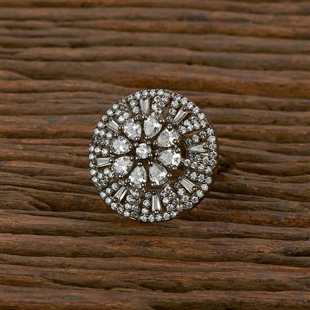 414254 Cz Classic Ring With Black Plating