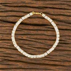 414367 Cz Delicate Bracelet With Gold Plating