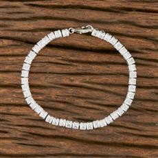 414368 Cz Delicate Bracelet With Rhodium Plating