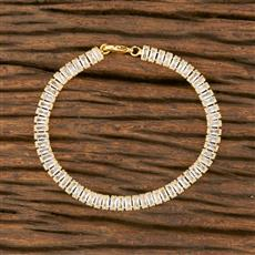 414370 Cz Delicate Bracelet With Gold Plating