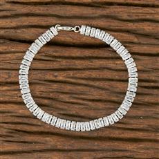 414371 Cz Delicate Bracelet With Rhodium Plating