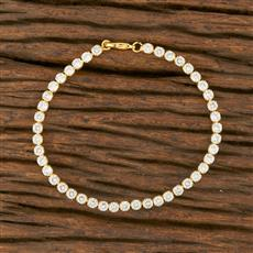 414373 Cz Delicate Bracelet With Gold Plating