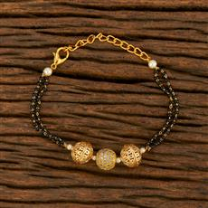 414409 Cz Classic Bracelet With Gold Plating