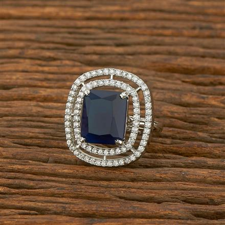 414414 Cz Classic Ring With Rhodium Plating