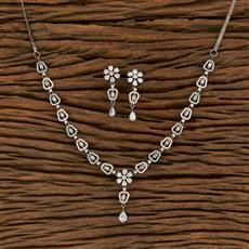 414423 Cz Classic Necklace With Black Rose Plating