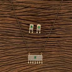 414456 Cz Classic Mangalsutra With 2 Tone Plating