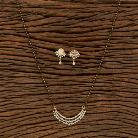 414459 Cz Classic Mangalsutra With 2 Tone Plating