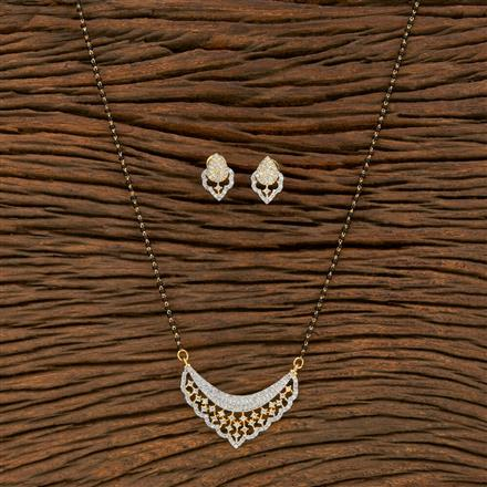 414461 Cz Classic Mangalsutra With 2 Tone Plating