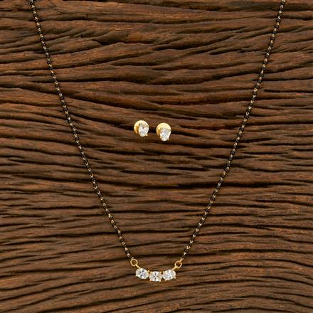 414462 Cz Delicate Mangalsutra With Gold Plating