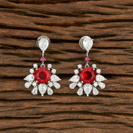 414467 Cz Classic Earring With Rhodium Plating