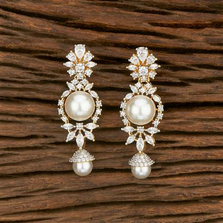 414470 Cz Classic Earring With 2 Tone Plating
