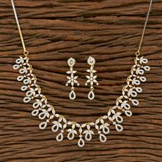 414476 Cz Classic Necklace With 2 Tone Plating