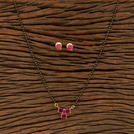 414491 Cz Delicate Mangalsutra With Gold Plating