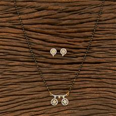 414495 Cz Delicate Mangalsutra With 2 Tone Plating