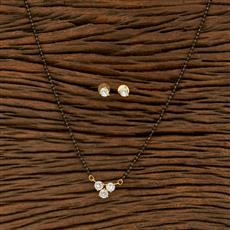 414496 Cz Delicate Mangalsutra With Gold Plating