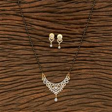 414504 Cz Classic Mangalsutra With 2 Tone Plating