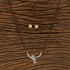 414535 Cz Classic Mangalsutra With 2 Tone Plating