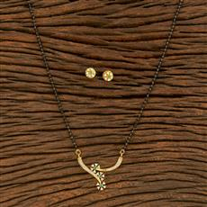 414537 Cz Classic Mangalsutra With Gold Plating