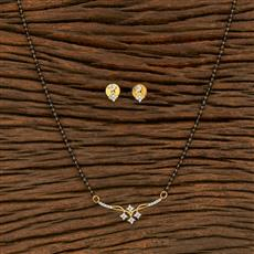 414544 Cz Classic Mangalsutra With 2 Tone Plating