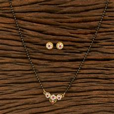 414549 Cz Classic Mangalsutra With Gold Plating