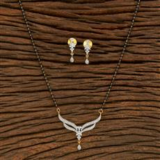 414550 Cz Classic Mangalsutra With 2 Tone Plating