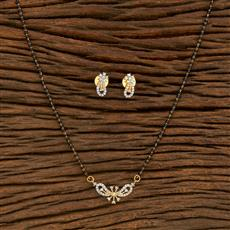 414553 Cz Classic Mangalsutra With 2 Tone Plating