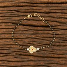 414562 Cz Delicate Bracelet With Gold Plating