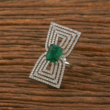 414570 Cz Classic Ring With Rhodium Plating