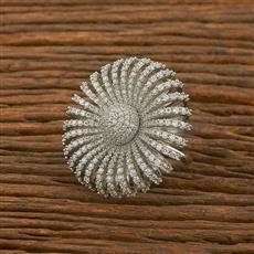 414571 Cz Classic Ring With Rhodium Plating