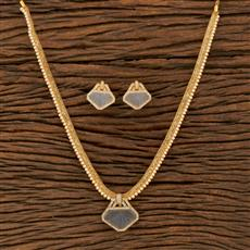 414684 Cz Classic Pendant Set With Gold Plating