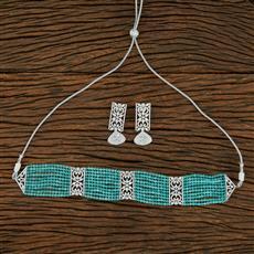 414849 Cz Mala Necklace With Rhodium Plating